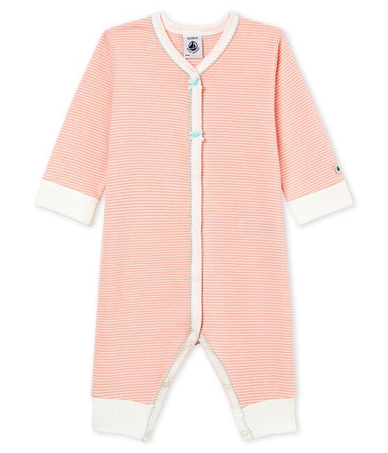 Tutina pigiama bambina a costine rosa Rosako / bianco Marshmallow Cn