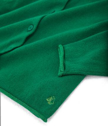 Cardigan tricot bambina verde Ecology