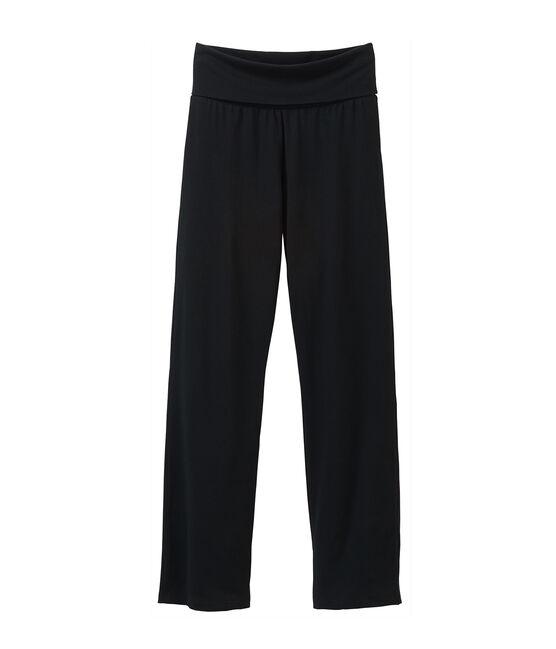Pantalone donna in maglia nero Noir