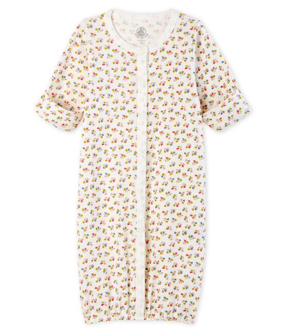 Tutina bebè a costine bianco Marshmallow / bianco Multico
