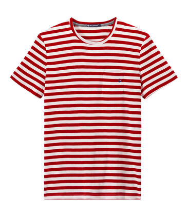 T-shirt uomo a righe bicolore