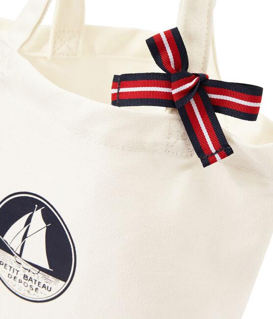 Borsa bambina in tela bianco Marshmallow