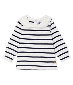 Blusa a manica lunga bebè femmina a righe marinare