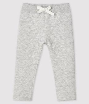 Pantalone in tubique bebè maschio grigio Beluga
