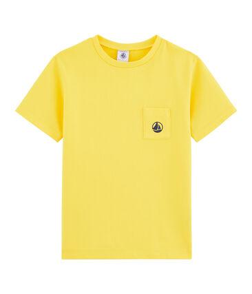 T-shirt bambino giallo Shine