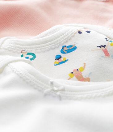Trio body manica corta bebè bambina lotto .