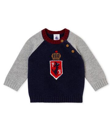 Pull tricot lana e cotone per bebé maschio