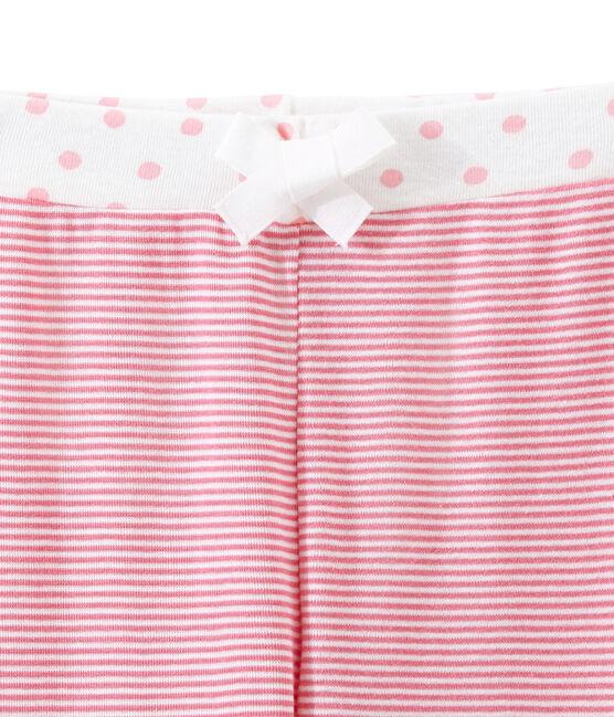 Pantalone per pigiama bambina rosa Cheek / bianco Marshmallow