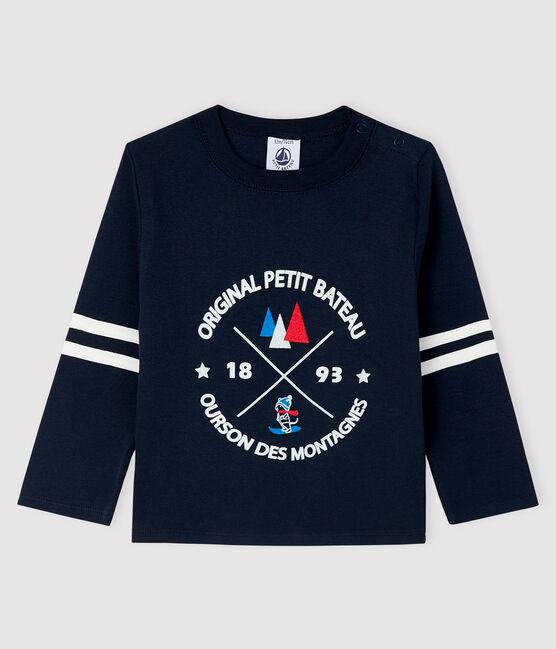T-shirt bebè maschio blu Smoking