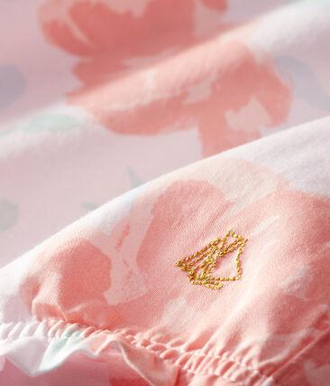 Tutina corta bebè femmina in raso fantasia rosa Vienne / bianco Multico