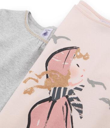 Confezione da due t-shirt bambina lotto .