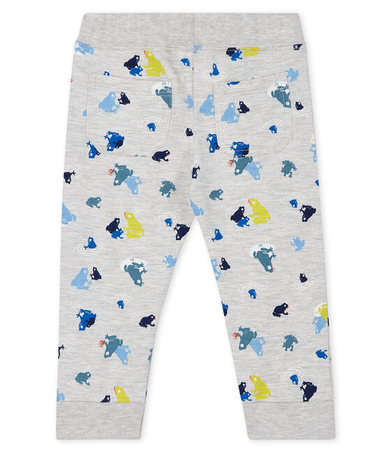 Pantalone bebè maschio fantasia grigio Beluga / bianco Multico