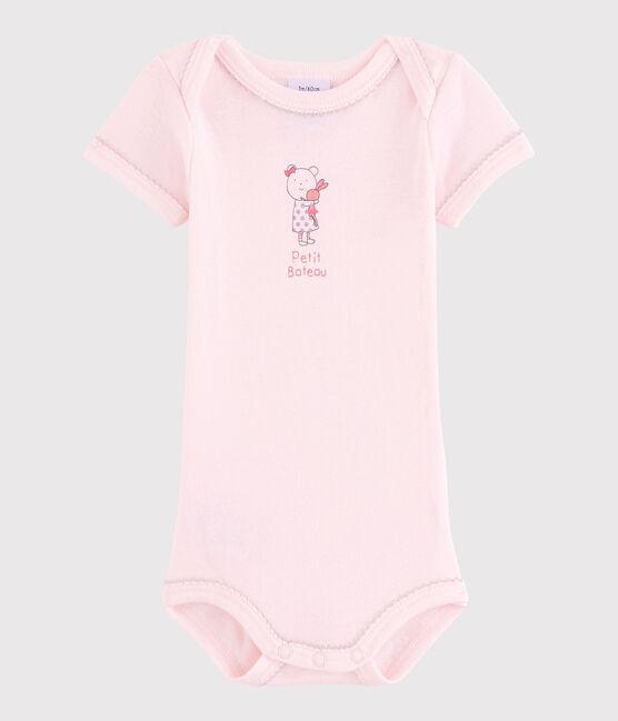 Body manica corta bebè femmina rosa Vienne