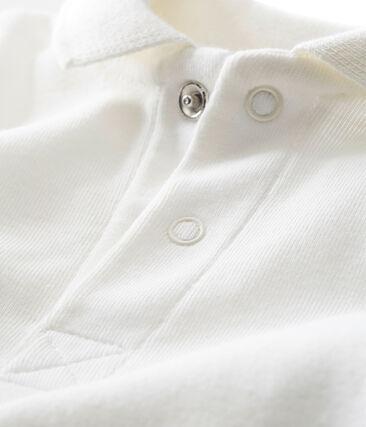 Body con colletto a polo per bebé maschio