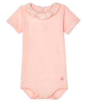 Body con colletto rotondo arricciato bebè femmina rosa Minois