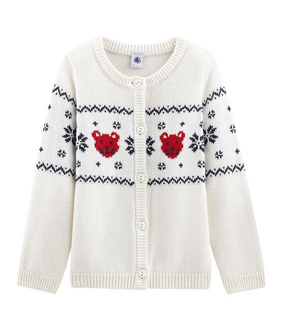 Cardigan bambino unisex bianco Marshmallow / bianco Multico