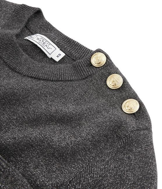 Pull donna nero City / grigio Argent