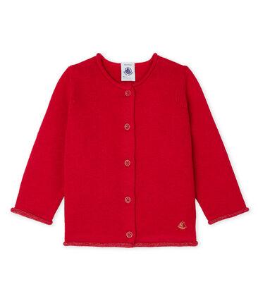 info for c5320 03627 Cardigan essenziale bambina in maglia di lana e cotone