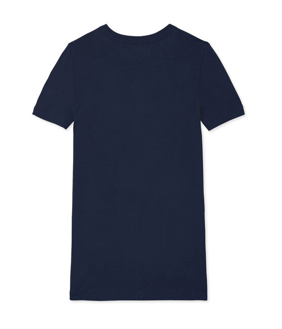 T-shirt iconica donna blu Smoking