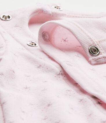 Combisac per bebé femmina 2 in 1 rosa Vienne / bianco Multico