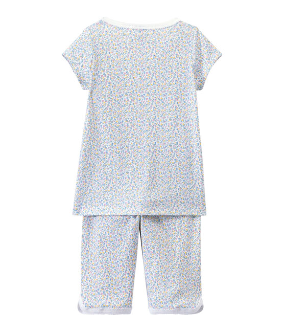 Pigiama corto bambina stampato bianco Ecume / bianco Multico