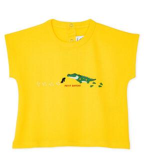 T-shirt maniche corte bebè maschio giallo Shine