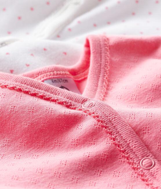 Duo tutine pigiama neonata a costine lotto .