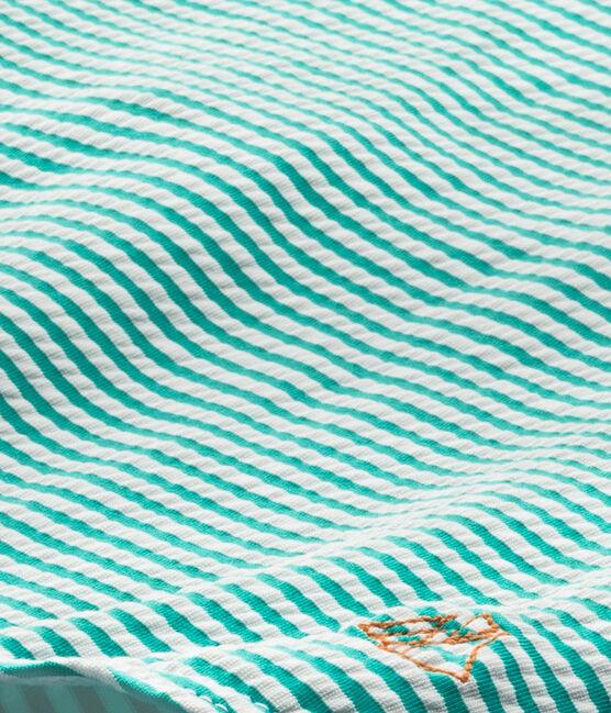 Costume da bagno intero bambina verde Flag / bianco Lait