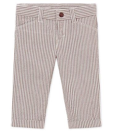Pantalone maschietto a righe rosso Vino / bianco Marshmallow