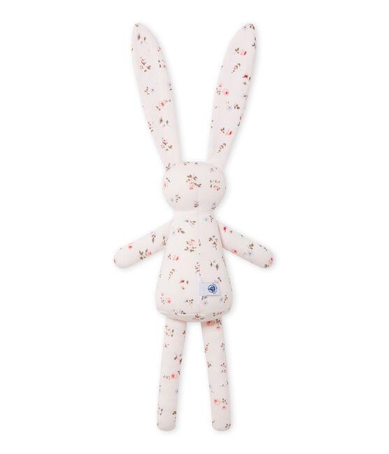 Doudou lapin bébé mixte imprimé rosa Vienne / bianco Multico