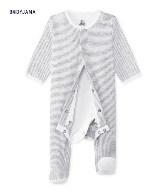 Bodygiama Bebé unisex grigio Beluga / bianco Ecume