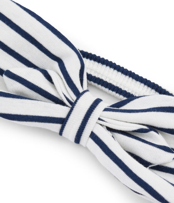 Fascia bambina bianco Marshmallow / blu Smoking