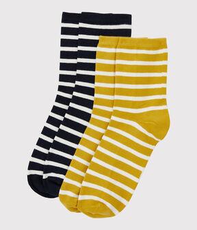 Confezione da 2 paia di calzini lotto .