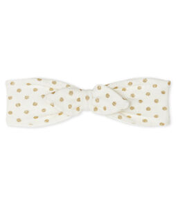 Fascia per capelli bebè bambina bianco Marshmallow / giallo Or