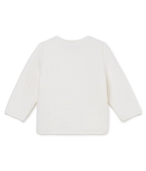 Cardigan in tubique trapuntato neonata bianco Marshmallow