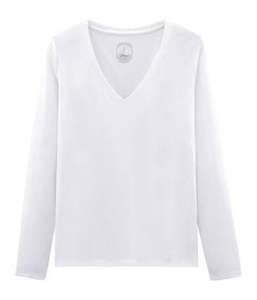 T-shirt maniche lunghe donna in cotone sea island