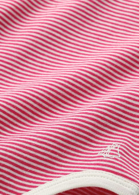 Body bebé femmina in millerighe rosa Flashy / beige Coquille