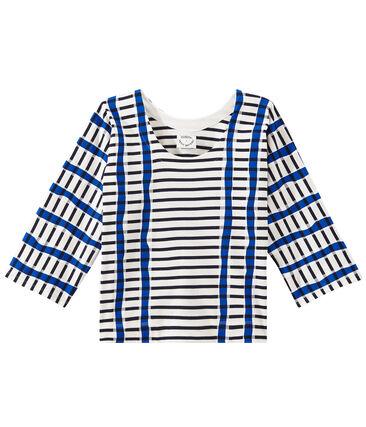 Mariniere Kimono bianco Marshmallow / blu Smoking