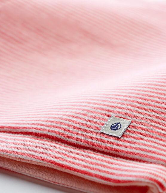 Gilet in costina da neonato rosa Cheek / bianco Marshmallow