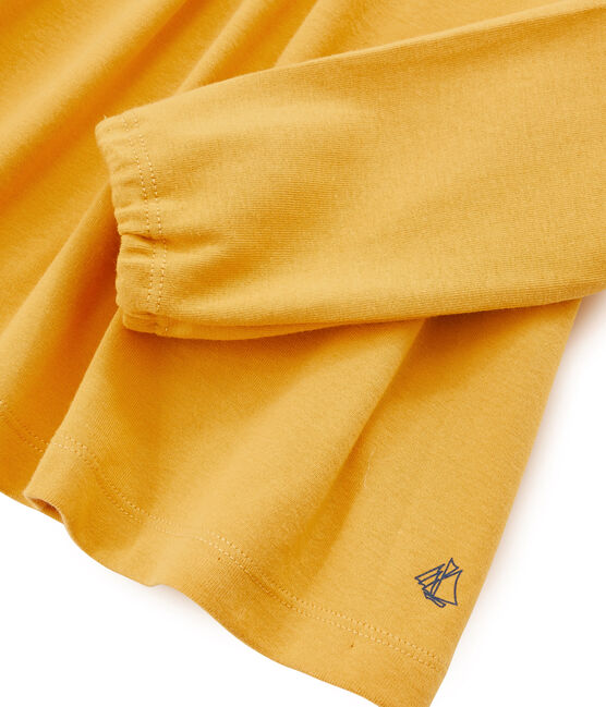 T-shirt maniche lunghe bambina giallo Boudor