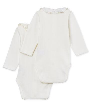 Confezione da 2 body manica lunga con colletto bebè femmina