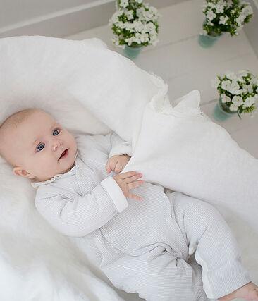 Tuta lunga bebè maschio a righe