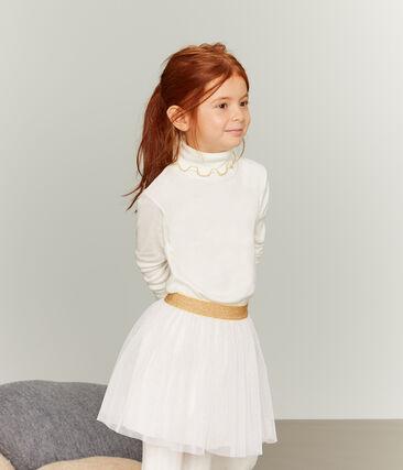 Sottogiacca bambina bianco Marshmallow / giallo Or