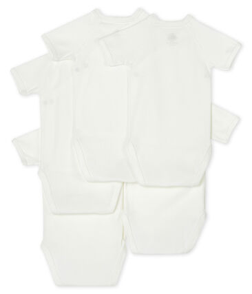 Confezione da 5 body nascita manica corta bebè lotto .