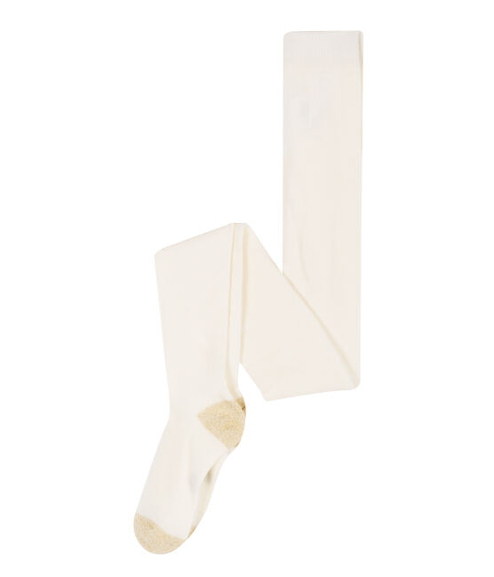 Collant bambina bianco Marshmallow
