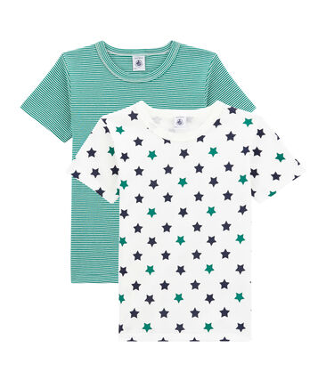 Lotto di 2 t-shirts a maniche corte per bambino lotto .