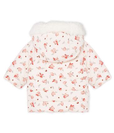 Piumino bebè femmina in microfibra fantasia rosa Fleur / bianco Multico