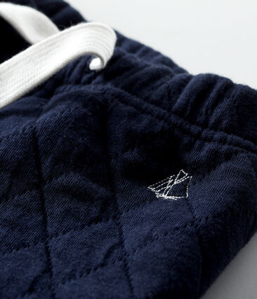 Pantalone in tubique trapuntato bebè maschio blu Smoking