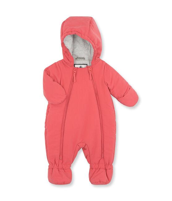 Tutina da pilota bebè unisex in microfibra rosa Cosmetique