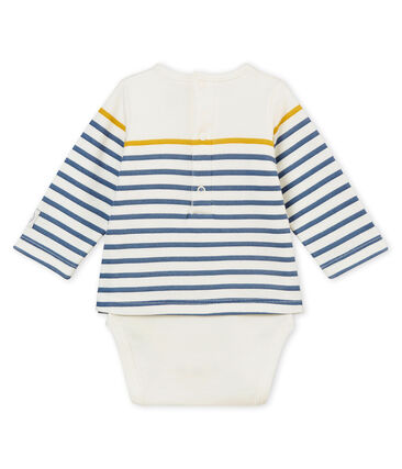 Body tee-shirtML per bebé maschio bianco Marshmallow / bianco Multico